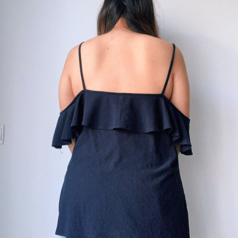 Dorothy Perkin Navy Blue Cold Shoulder Top