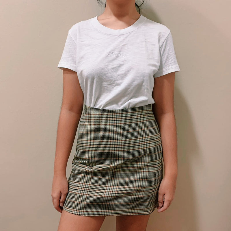 Monki Brown Plain High-waisted Skirt