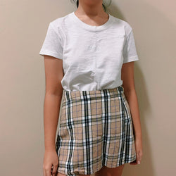 Afends High-Waisted Plaid Skorts
