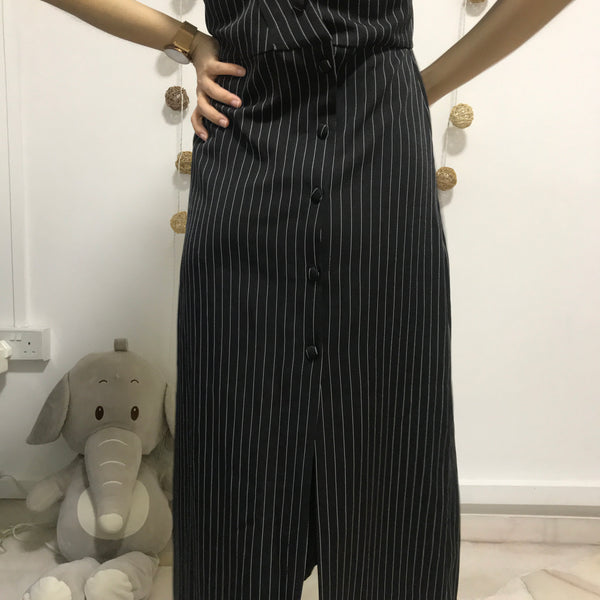 Pinstripe Maxi Dress