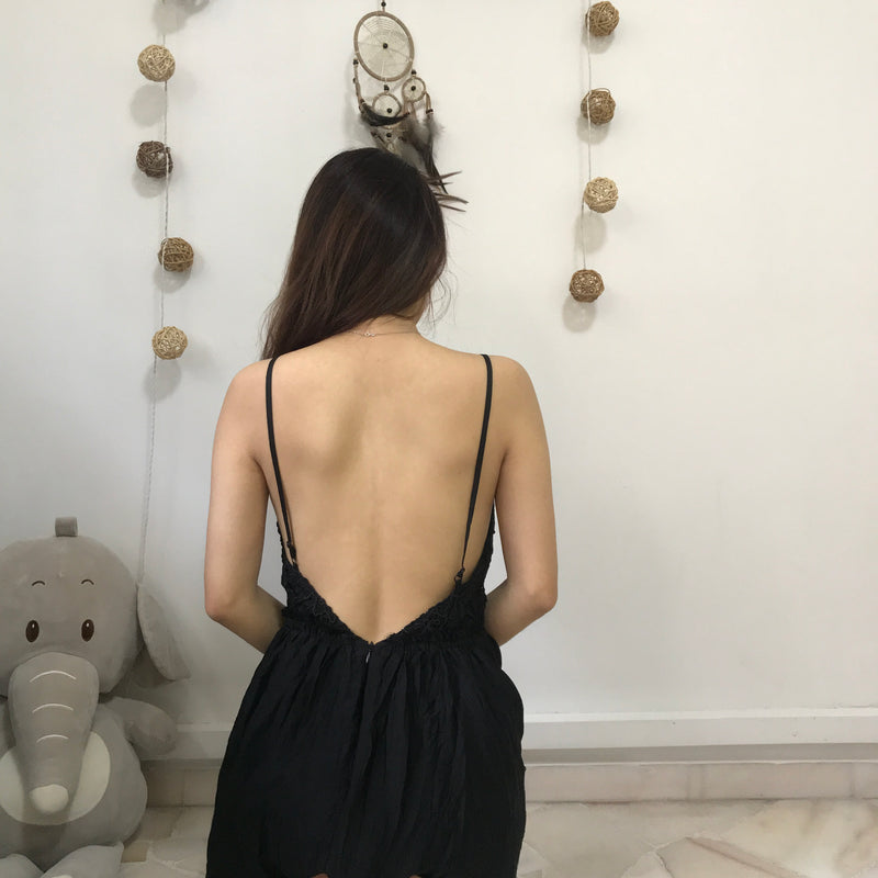 Love Bonito Black Bare Back Dress