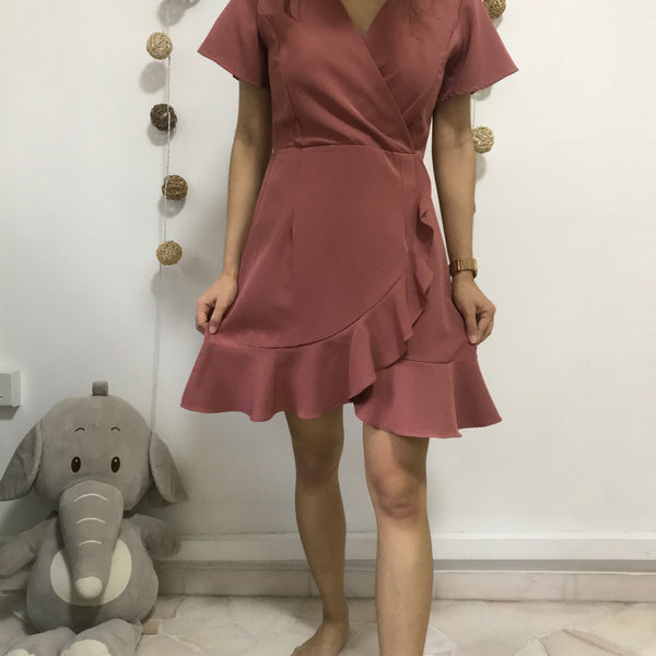 Dusty Pink Ruffled Dress