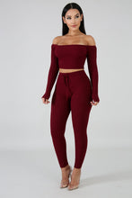 Wine Leggings Set
