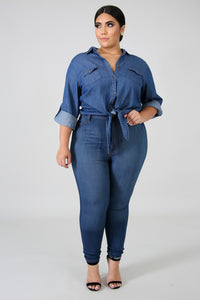 Chambray Chic Top