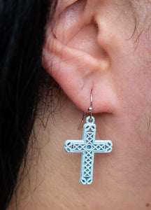 Pious Blue Earrings