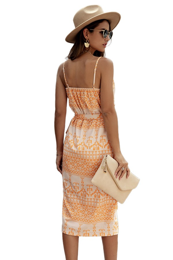 Citrus Wrap Dress