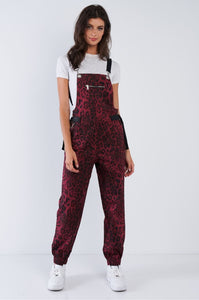 Burgundy Cheetah Jumpsuit