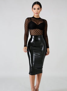 Kinky Leatherette Skirt