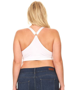 White Racerback Sports Bra