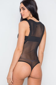 Sheer Black Bodysuit
