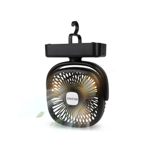 BriGenius Battery Powered Fan With Hanging Hook And LED Light
