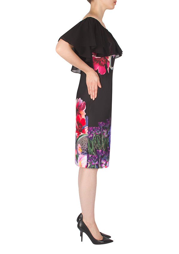Floral Black Dress-Joseph Ribkoff-Debbie Moses
