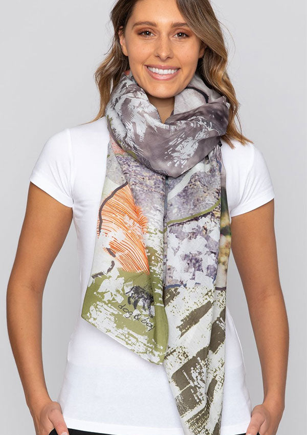 Whisper Silk Scarf-Dog and Boy-Debbie Moses
