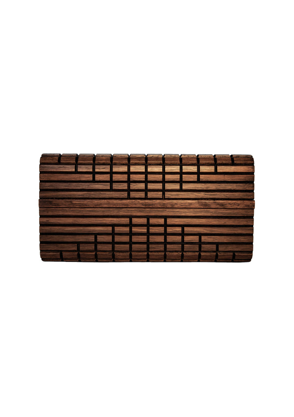 'Genesis' Timber Clutch-Rooster's Rook-Debbie Moses