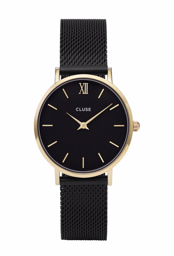 Matte Black with Gold Minuit Timepiece