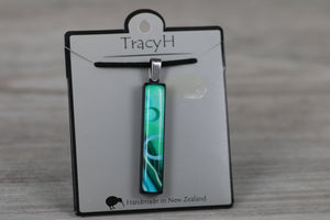 TracyH Pendant Rectange Circle Turq