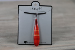 TracyH Pendant Teardrop Gradient  Red