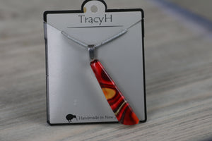 TracyH Pendant Drop Clear Reflection Orange