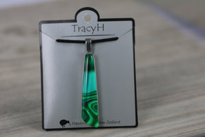 TracyH Pendant Drop Clear Reflection Turq