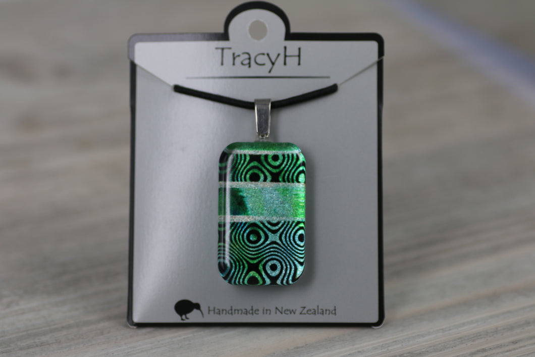 TracyH Pendant Rectangle Retro1 Turq
