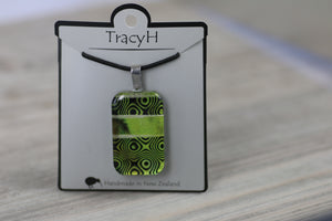 TracyH Pendant Rectangle Retro1 Green