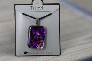 TracyH Pendant Rectangle Fern Purple