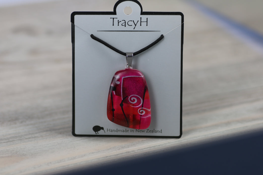 TracyH Pendant Trapeze Abstract Pink