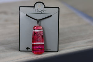 TracyH Pendant Mere Abstract Pink