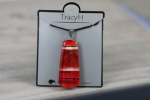 TracyH Pendant Mere Abstract Red