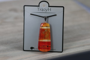 TracyH Pendant Mere Abstract Orange