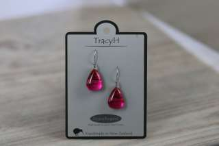 TracyH Earring Triangle Foil Stripe Pink