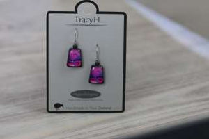 TracyH Earring Trapeze Circles Purple