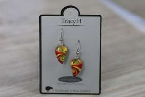 TracyH Earring Leaf Small Bow Orange