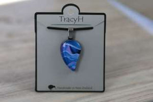 TracyH Pendant Small Leaf Landscapes Blue