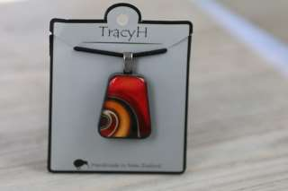 TracyH Pendant Trapeze Large Ribbon Red