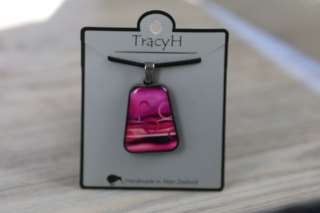 TracyH Pendant Trapeze Large Circles Pink