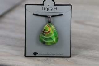 TracyH Pendant Triangle Loops Green