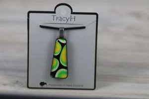 TracyH Pendant Trapeze Small Pebbles Green