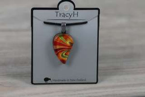 TracyH Pendant Small Leaf Bow Orange