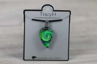 TracyH Pendant Small Mystic Wave Green