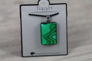 TracyH Pendant Rect Large Reflection Turq