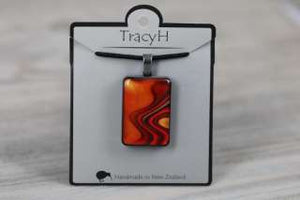 TracyH Pendant Rect Large Reflection Orange