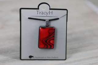 TracyH Pendant Rect Large Reflection Red