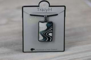 TracyH Pendant Rect Large Reflection Black White