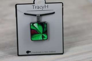 TracyH  Pendant  Square Patchwork Green