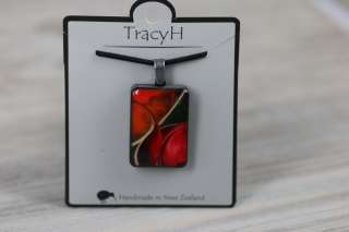 TracyH  Pendant  Large Tulip Red