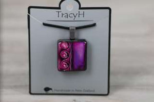 TracyH Pendant Square 3 Waves Purple