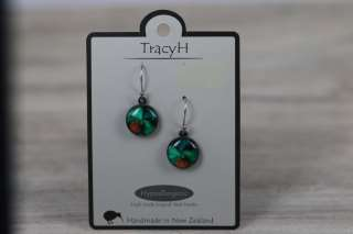 TracyH Earring Round Orchid Turq