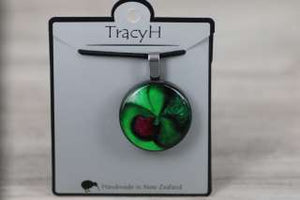 TracyH Pendant Round Orchid Green