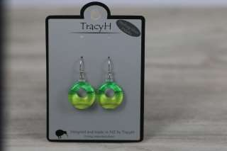 TracyH Earring  Loop  Gradient green